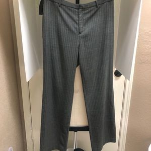 GAP Women's Grey Pinstripe Pant 10 Ankle